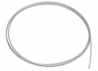 Stahldrahtseil 5/7 mm (PVC-ummantelt) - Meterware